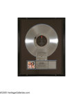 """Music Memorabilia:Awards, Poison """"Look What the Cat Dragged In"""" Platinum Record Award.Presented to producer Mario Maglieri Sr. to commemorate the sal..."""
