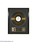 "Music Memorabilia:Awards, Hank Williams Jr. ""Hank Live"" Gold Record Award. Hologram-styleaward presented to Jerry McKinney ""To commemorate the sales ..."