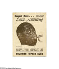 Music Memorabilia:Autographs and Signed Items, Louis Armstrong Signed Program. A souvenir menu from a performanceat the Palomar Supper Club, boldly signed by the legendar...