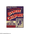 Music Memorabilia:Autographs and Signed Items, Blanche Calloway Signed Window Card. Blanche Calloway was Cab'solder sister, and it has been said that Cab stole his flambo...