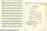 """""""Christmas is For Everyone"""" Sheet Music. Handwritten original sheet music for the song by Don Costa and Tony C..."""