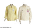 "Music Memorabilia:Costumes, Don Costa's Personal Harrah's Coats. Two Harrah's casino windbreakers, each embrodered with the name ""Don."" One is yellow an..."