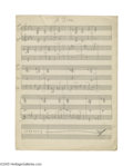 "Music Memorabilia:Documents, Duke Ellington -- ""A Tree,"" 2-page Hand Written Score (circa 1930s). Duke Ellington wrote and arranged his songs for the tal..."