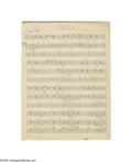 """Music Memorabilia:Documents, Duke Ellington -- """"It's Swell of You,"""" 6-page Hand-Written Score (circa 1937). This Jazz standard, composed by Mack Gordon a... (2 Items)"""