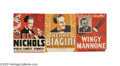 Music Memorabilia:Memorabilia, Jazz Posters Group. This selection of three small vintage jazz posters includes signed posters for Red Nichols and Henry Bia...