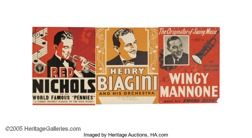music memorabiliamemorabilia jazz posters group this selection of three small vintage jazzposters