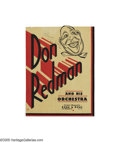 Music Memorabilia:Autographs and Signed Items, Don Redman Signed Window Card. Don Redman was a true Renaissanceman of jazz. He was a pioneering arranger/composer, and he ...
