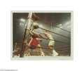 Music Memorabilia:Photos, Frank Sinatra Photograph of Ali vs. Frazier #2. Color photo takenby Sinatra of Joe Frazier connecting a punch during the Ma...