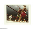Music Memorabilia:Photos, Frank Sinatra Photograph of Ali vs. Frazier #3. Color photo takenby Frank Sinatra of Muhammad Ali on the ropes during the M...