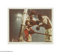 Music Memorabilia:Photos, Frank Sinatra Photograph of Ali vs. Frazier #4. Color photo takenby Sinatra of Muhammad Ali and Joe Frazier sparring in a c...