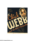 Music Memorabilia:Posters, Chick Webb Signed Window Display Card Also Signed by EllaFitzgerald....
