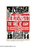 "Music Memorabilia:Posters, The Blues Project - Avalon Ballroom Poster, ""The Laugh Cure""(Family Dog Presents, 1966). A very tough to find first printi..."