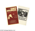 Music Memorabilia:Posters, Ray Charles and Dave Brubeck - Piano Player Handbills, Group of 2.Handbills from concerts with two of the finest piano play... (2Items)