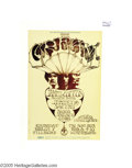Music Memorabilia:Posters, Cream - Winterland Concert Poster (Bill Graham Presents, 1968). Aposter for one of the mightiest bands in the history of r...
