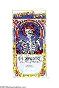 Music Memorabilia:Posters, Grateful Dead - East Town Theater (1971). The classic Grateful Deadimage of a skeleton with a crown of roses graces this ov...