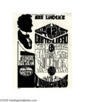 Music Memorabilia:Posters, Grateful Dead - Abe Lincoln's Birthday Party Handbill (Bill GrahamPresents, 1967). A rare handbill for this show that was n...