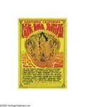Music Memorabilia:Posters, Northern California Folk-Rock Festival Concert Poster, featuringJimi Hendrix (1968). A little over a year before Woodstock ...
