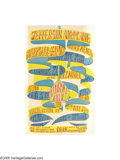 Music Memorabilia:Posters, Jefferson Airplane - Strike Benefit Poster, Fillmore Auditorium(Joint Ventures, 1966). A tough to find poster for a non-Bil...