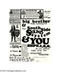 Music Memorabilia:Posters, Big Brother and the Holding Company - Handbill (Straight Theatre,1967). An early handbill for Janis Joplin, this comes only...