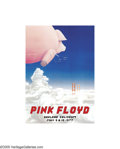 Music Memorabilia:Posters, Pink Floyd - Day On The Green (Bill Graham Presents, 1977). A bigpig floats toward the Golden Gate Bridge in San Francisco ...