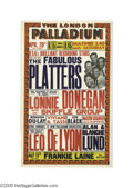 Music Memorabilia:Posters, The Platters - London Concert Poster. One of the most enduringR&B doo-wop groups of the '50s, the Platters scored big with...