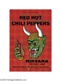 Music Memorabilia:Posters, Red Hot Chili Peppers - New Years Eve Concert Poster (Bill GrahamPresents, 1991). A killer New Years Eve poster from the C... (1 )