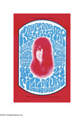 Music Memorabilia:Posters, Grace Slick and the Great Society/13th Floor Elevators - Fillmore Auditorium Concert Poster (Bill Graham Presents, 1966). A ...