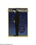 Music Memorabilia:Posters, Pete Townsend - Fillmore Concert Poster #F-219 (Bill GrahamPresents, 1996). The legendary guitarist for The Who in a rare c...