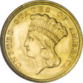 Three Dollar Gold Pieces, 1854 $3 MS67 NGC....