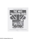 "Music Memorabilia:Posters, The Who - ""Day On The Green"" Poster. This interesting piece wasproduced using Randy Tuten's art from the newspaper ad for t..."