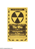 Music Memorabilia:Posters, The Who - Fallout Shelter. This poster was made by artist RandyTuten from his art for the Bill Graham Presents newspaper a...