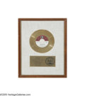 "Music Memorabilia:Framed Presentations, The Doors - ""Light My Fire"" Gold Record Award During the late1960s, radios tuned to top 40 stations all across the country ...(1 )"