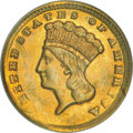 Gold Dollars, 1861-D G$1 MS65 NGC....