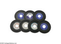 """Music Memorabilia:Recordings, All-Star Blues Lot - Seven 45s (1951-65). Beautiful copies of someBlues and R&B greats includes: Charles Brown's """"Black Nig... (7Items)"""
