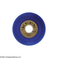"""Music Memorabilia:Recordings, Sam Cooke """"Win Your Love for Me"""" 45 Keen 2006 Stereo Blue Vinyl(1958). Very nice copy of the stereo blue vinyl variation of... (1)"""