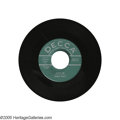 """Music Memorabilia:Recordings, Buddy Holly """"Love Me""""/""""You Are My One Desire"""" 45 Promo Decca 30543(1958). Rare promo copy from the label Buddy was signed t... (1 )"""