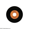 """Music Memorabilia:Recordings, Elvis Presley """"Tickle Me"""" Radio Spot Announcements 45 AlliedArtists (1965). One-sided play in superb condition: MT 9.... (1 )"""