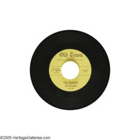 "The Solitaires ""Blue Valentine""/""Wonder Why"" 45 Old Town 1000 (1954). Unbelievable condition on a re..."