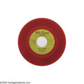 """Music Memorabilia:Recordings, The Solitaires """"Blue Valentine""""/""""Wonder Why"""" Red Vinyl 45 Old Town1000 (1954). Rarer red vinyl version of the previous lot...."""