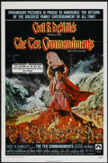 "Movie Posters:Historical Drama, The Ten Commandments (Paramount, R-1972). One Sheet (27"" X 41"")Tri-Folded. Historical Drama...."