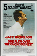 "Movie Posters:Academy Award Winner, One Flew Over the Cuckoo's Nest (United Artists, 1975).International Academy Awards One Sheet (27"" X 41""). Drama...."