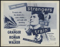 """Movie Posters:Hitchcock, Strangers on a Train (Warner Brothers, R-1957). Half Sheet (22"""" X28""""). Hitchcock...."""