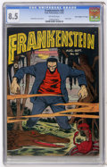 "Golden Age (1938-1955):Horror, Frankenstein Comics #20 Davis Crippen (""D"" Copy) pedigree (Prize,1952) CGC VF+ 8.5 Off-white pages...."