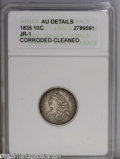 """Bust Dimes: , 1835 10C AU50--Cleaned, Corroded--ANACS.Details JR-1 The currentCoin Dealer Newsletter (Greysheet) wholesale """"bid"""" price is..."""