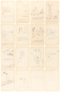 Original Comic Art:Sketches, Carl Barks - Gag Preliminary Sketch Original Art Group of 17 (Walt Disney, c. 1940-41).... (Total: 18 Items)