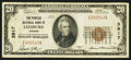 National Bank Notes:Virginia, Leesburg, VA - $20 1929 Ty. 1 The Peoples NB Ch. # 3917. ...