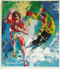 Prints:Contemporary, LEROY NEIMAN (American b.1927) . Signed Olympics poster, circa 1979. 24 x 21in. . Signed and inscribed in pen at the lower ...