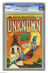 Adventures Into the Unknown #165 Boston pedigree (ACG, 1966) CGC NM 9.4 Off-white to white pages. Kurt Schaffenberger co...
