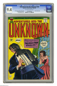 Adventures Into the Unknown #169 Boston pedigree (ACG, 1966) CGC NM 9.4 Off-white to white pages. Nemesis battles Hitler...
