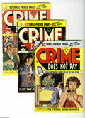 Golden Age (1938-1955):Crime, Crime Does Not Pay Group (Lev Gleason, 1950-52) Condition: Average VG+. Six-issue lot includes #92, 93, 94 (GD), 95, 96, and... (6 Comic Books)